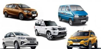 Most affordable 7 seat cars SUVs in India