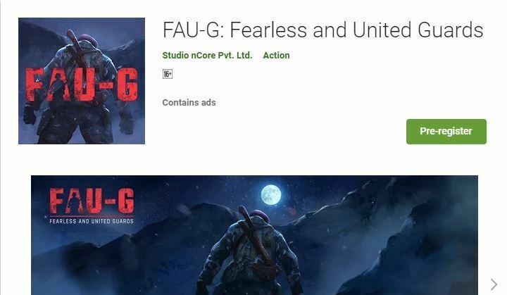 FAU-G live on Google Play, pre-registration starts